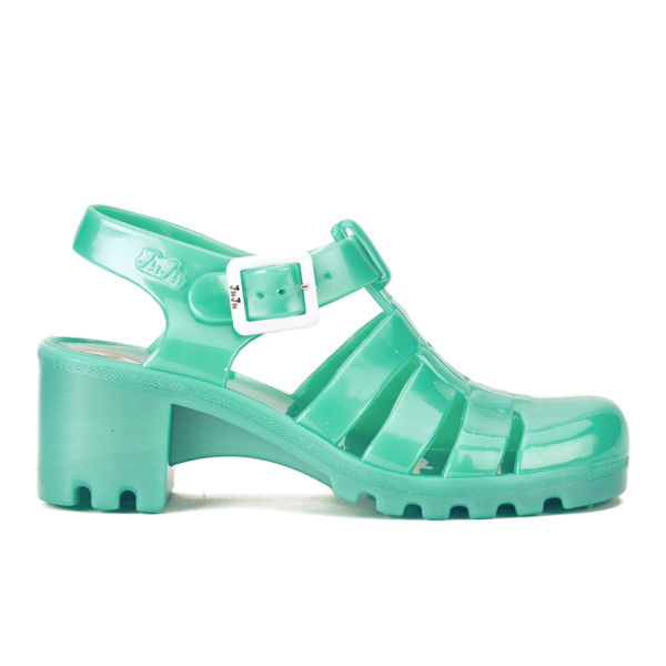 JuJu Women's Babe Heeled Jelly Sandals - Pearl Aqua