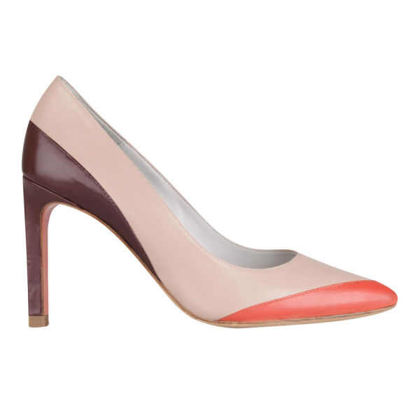 Paul Smith Shoes Women's Ayla Leather Court Shoes - Nude Luxury Calf