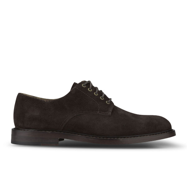 polo ralph s newent captoe suede shoes brown
