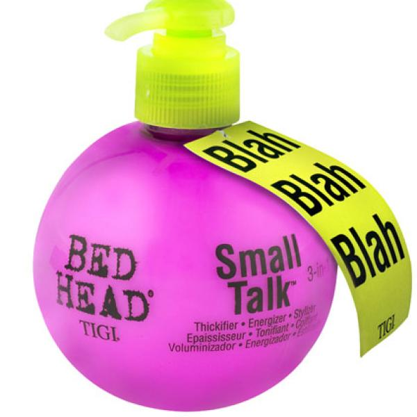tigi bed head small talk thickifier 200ml free delivery. Black Bedroom Furniture Sets. Home Design Ideas