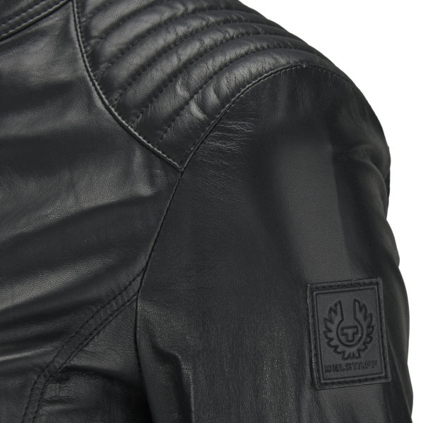 Belstaff Women's Saxby Leather Bomber Jacket - Black - Free UK