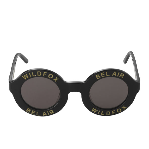 Wildfox Bel Air Round Sunglasses - Black/Grey