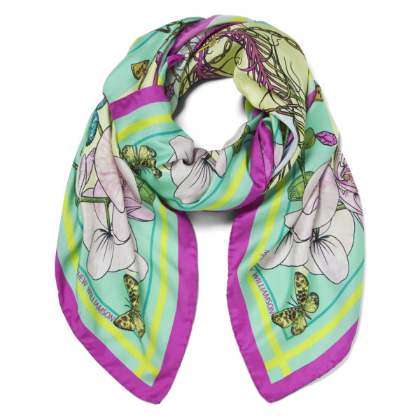 Matthew Williamson Women's Butterfly DNA Silk Scarf - Multi