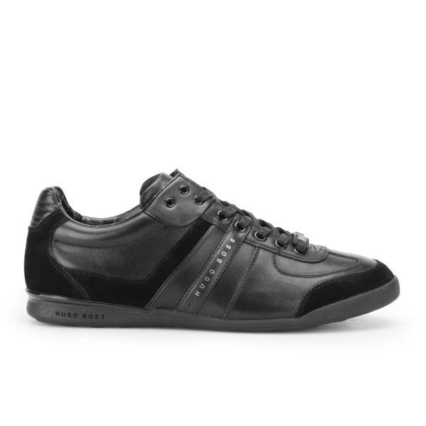 BOSS Green BOSS Green Men's Aki Leather/Suede Trainers - Black - UK 11