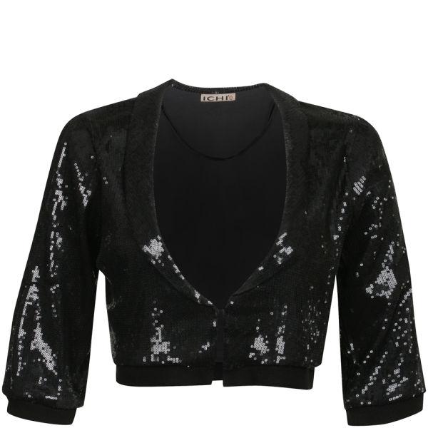 Womens black sequin jacket