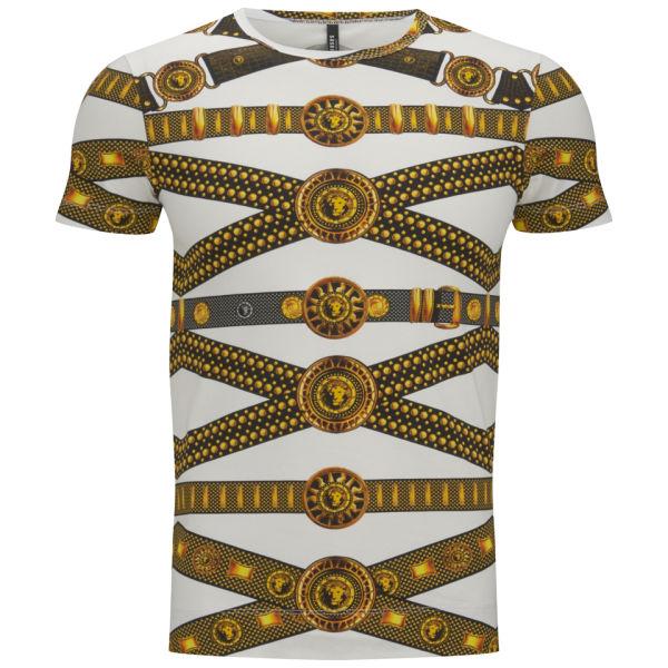 20 Versus Versace Men S Belt Print T Shirt Black And Stamp Free Uk Delivery Over 163 50