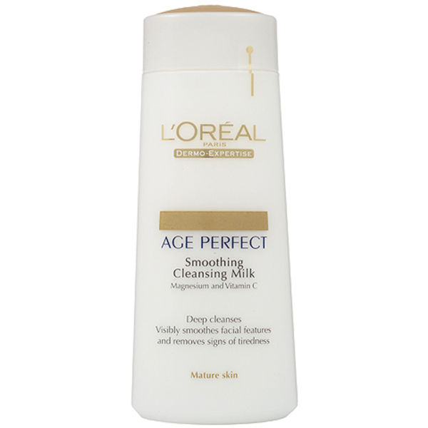 L'Oreal Paris Dermo Expertise Age Perfect Smoothing Cleansing Milk - Mature Skin (200 ml)