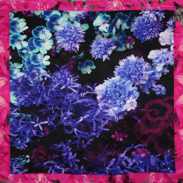 Paul Smith Accessories Women's Photo Floral Scarf - Navy
