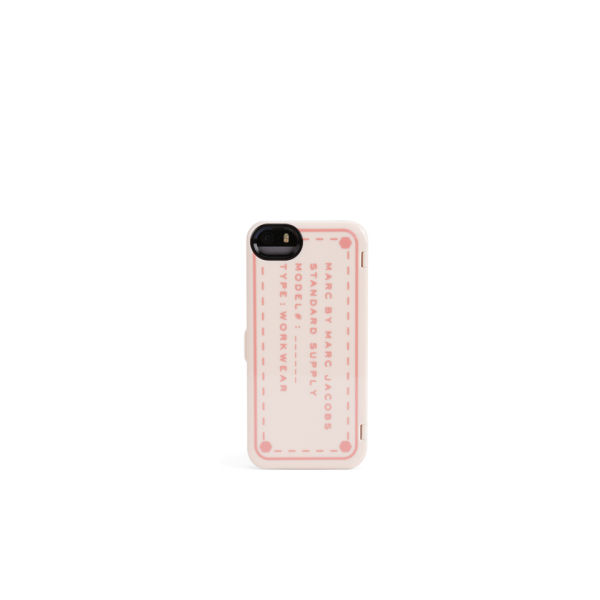 Marc by Marc Jacobs Standard Supply Compact Mirror iPhone Case - Fluoro Coral Multi