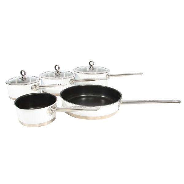 Morphy Richards Pots And Pans: Morphy Richards 79010 5 Piece Pan Set - White