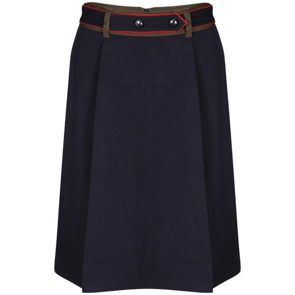 Marc by Marc Jacobs Women's Wool Twill Skirt - Prairie Indigo