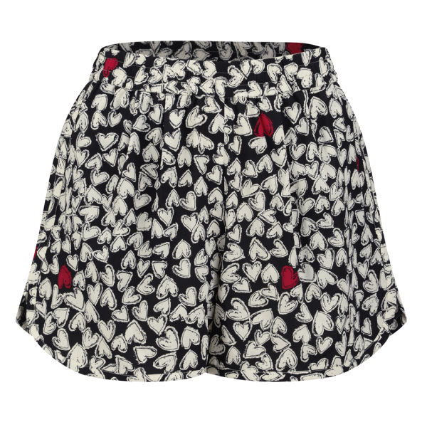 Sonia by Sonia Rykiel Women's Silk Print Mini Shorts - Black/Cream
