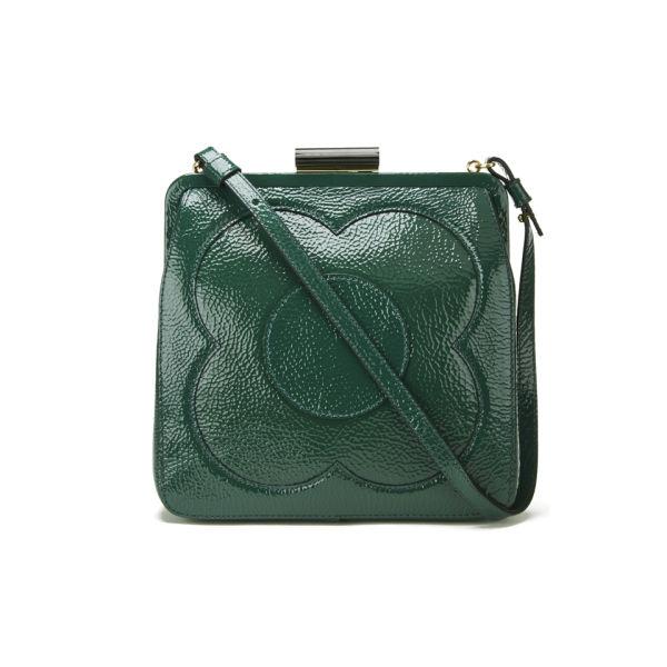 Orla Kiely Leather Holly Bag Emerald