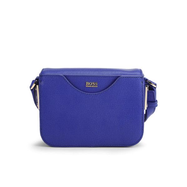 BOSS Hugo Boss Melia Printed Leather Cross Body Bag - Bright Blue