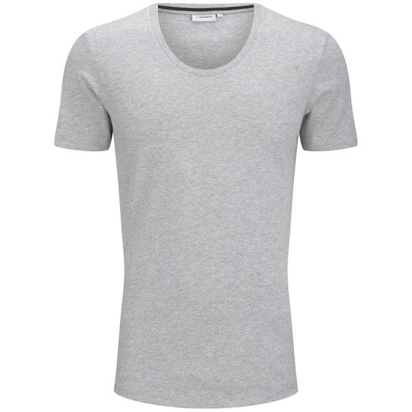 J.Lindeberg Men's Axtell Scoop T-Shirt - Light Grey