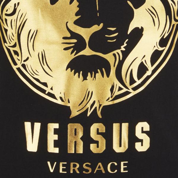 versus versace mens lion print tshirt black and stamp
