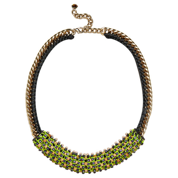 Nocturne Women's Nora Beaded Necklace - Lemon