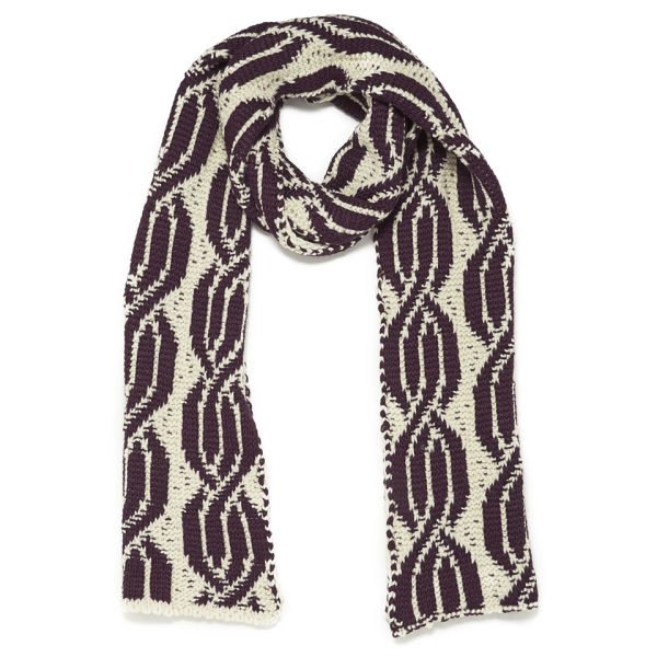 ba&sh Knitted Scarf - Red/White