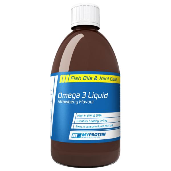 Omega 3 Líquido, Fresa, Botella, 500 ml Oferta en MyProtein