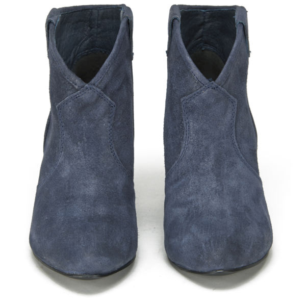 ash s jalouse suede heeled ankle boots midnight