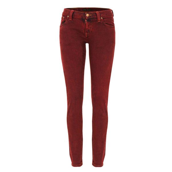 Nudie Women's Tight Long John Organic Skinny Jeans - Icon Red