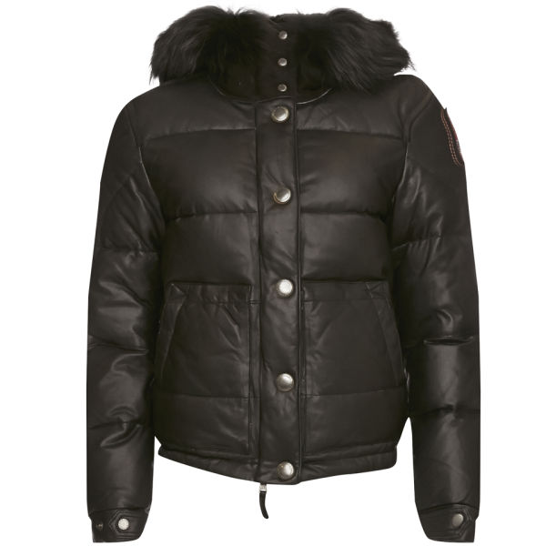 Parajumpers Women's Linda Leather Jacket - Black
