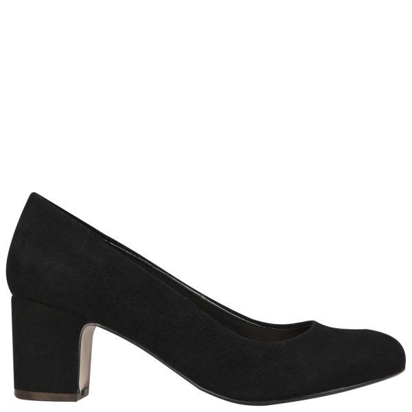 Carvela Women's Ashden Heeled Suede Court Shoes - Black