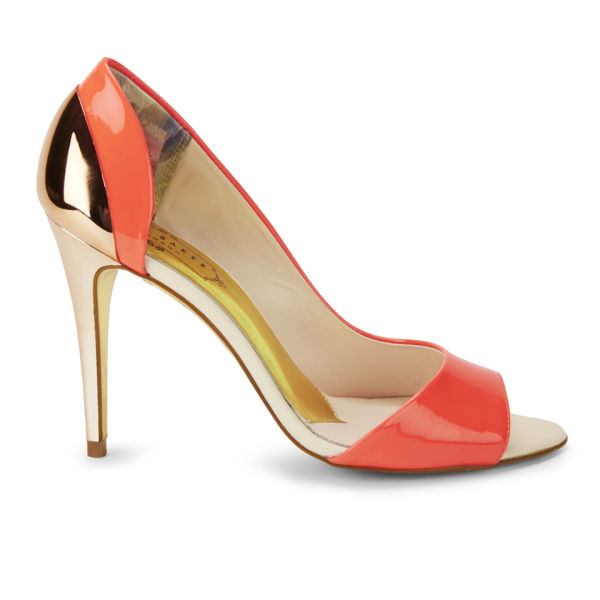 Ted Baker Women's Maceey Patent Leather Peep Toe Heels - Pink