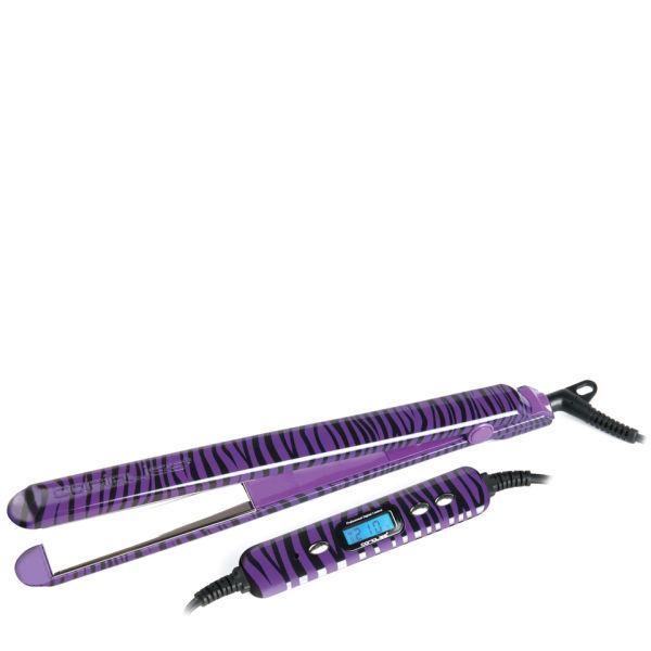 Purple Zebra Hair Straightener Triple Weft Hair Extensions