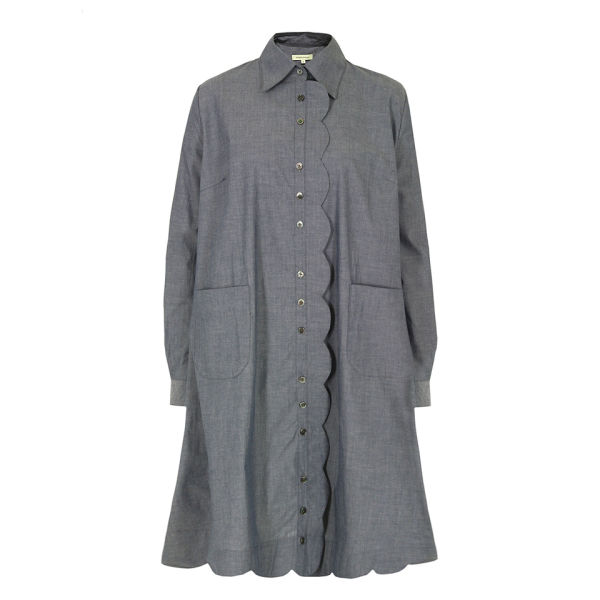 Bolzoni & Walsh Women's DR21 V3 Scalloped Shirt Dress - Denim