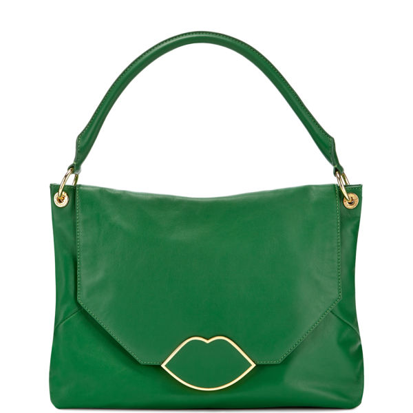 Lulu Guinness Medium Nicola Leather Shoulder Bag - Emerald