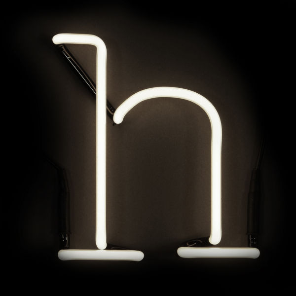 Seletti neon letter h homeware free uk delivery over gbp50 for Large neon letters