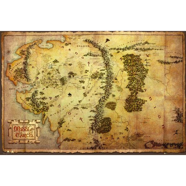 The Hobbit Map - Maxi Poster - 61 x 91.5cm