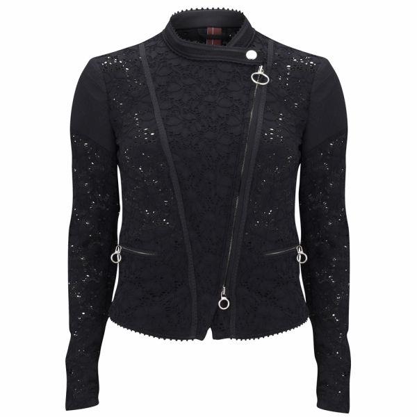 HIGH Women's Outwit Short Biker Jacket - Black