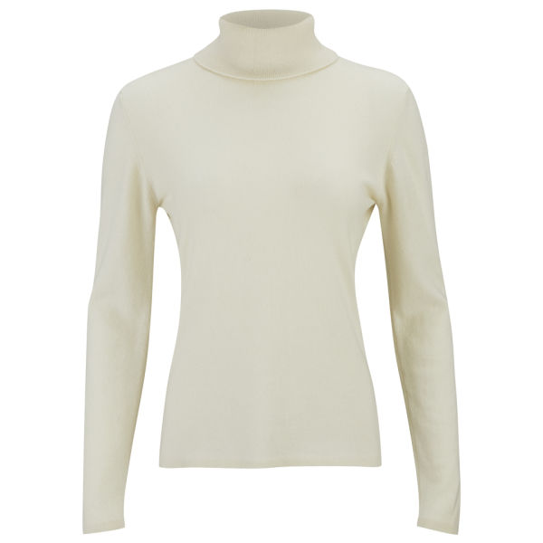 Knutsford Women's Roll Neck Cashmere Sweater - White