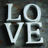 Nkuku Distressed Mango Wood Letters - Distressed White - E (15cm): Image 1
