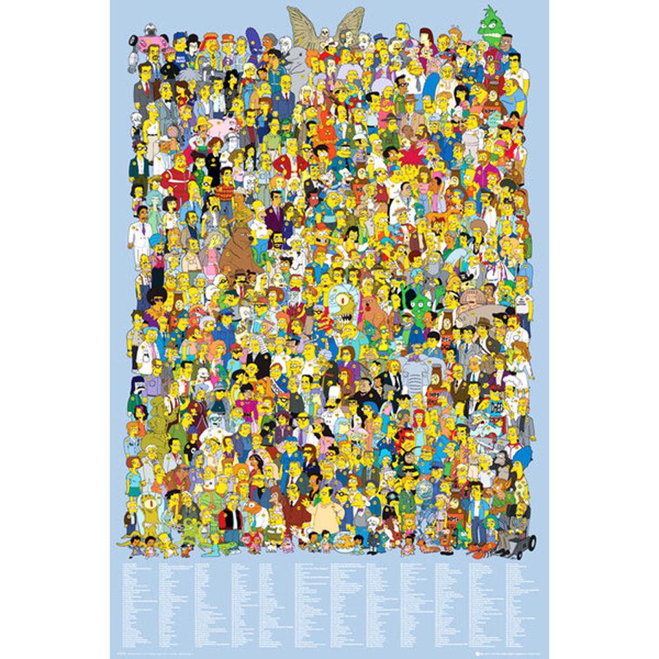 the-simpsons-cast-2012-maxi-poster-61-x-915cm