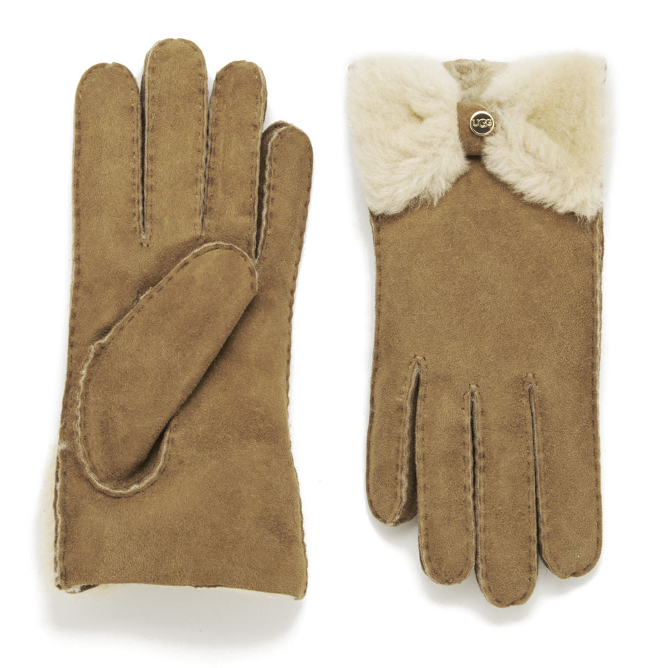 ugg-women-classic-bow-gloves-chestnut-s