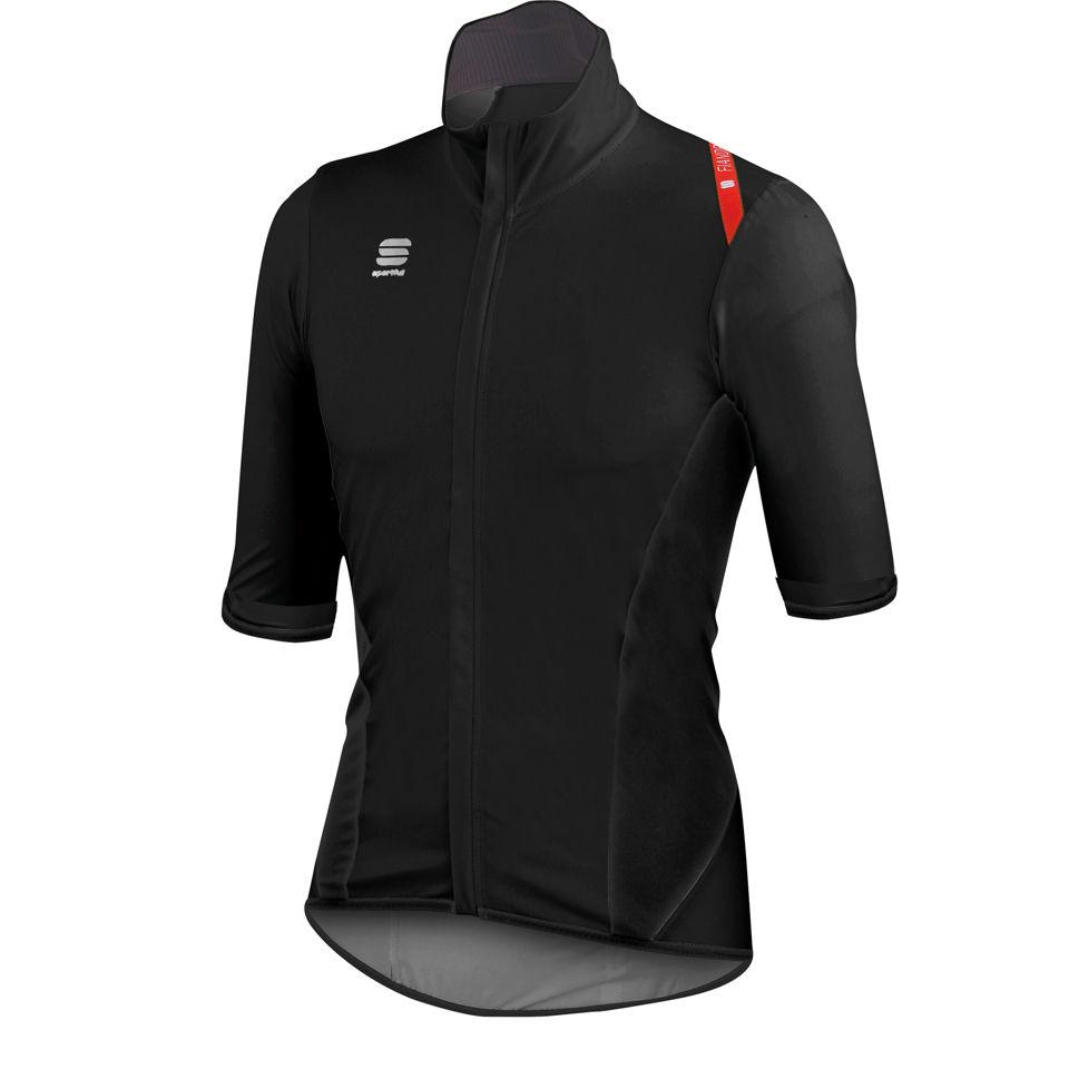 sportful-fiandre-light-rain-short-sleeve-jersey-black-red-s