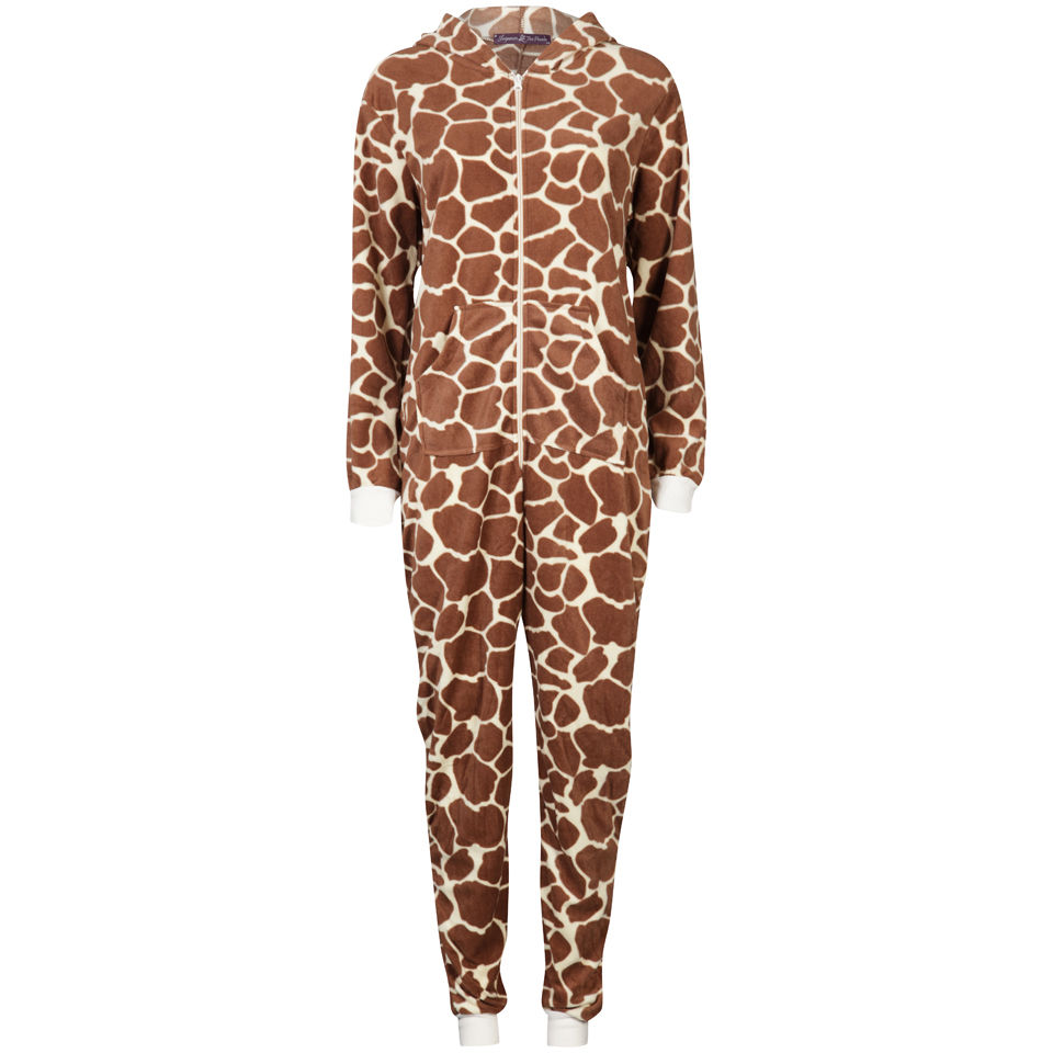 Sleepwear By Tom Franks Womens Micro Fleece Animal Onesie Giraffe