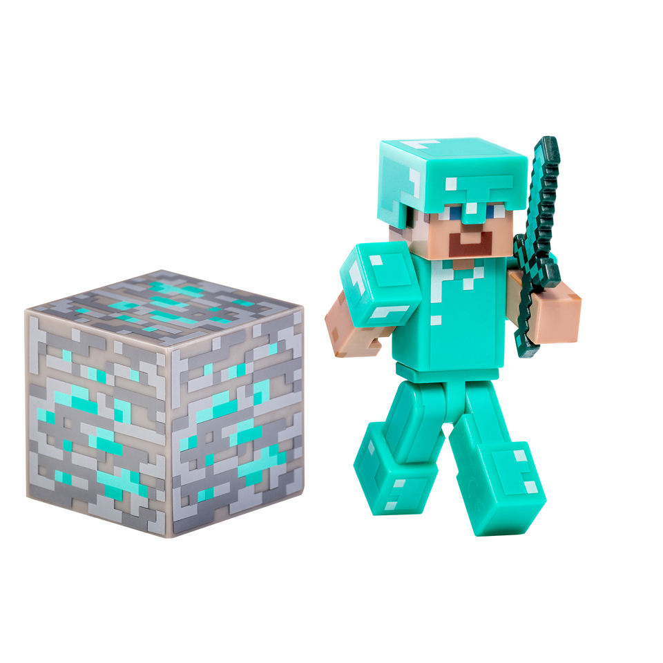 minecraft-3-inch-diamond-steve-figure