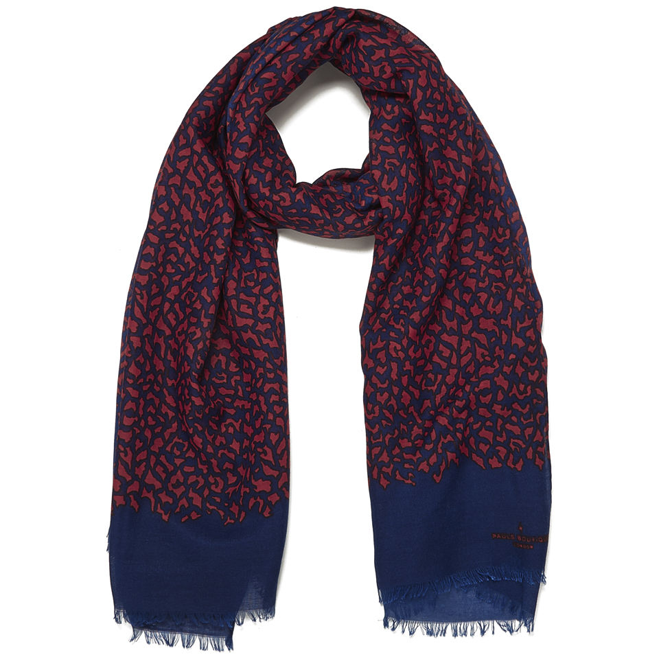 paul-boutique-tiger-print-scarf-coral-navy