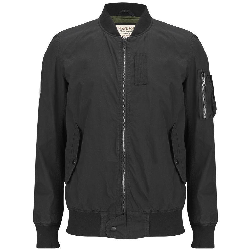 brave soul men 39 s flyer bomber jacket black clothing. Black Bedroom Furniture Sets. Home Design Ideas