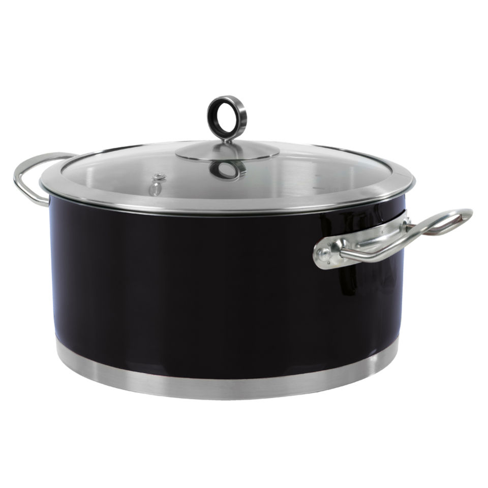 morphy-richards-46370-accents-24cm-casserole-dish-black