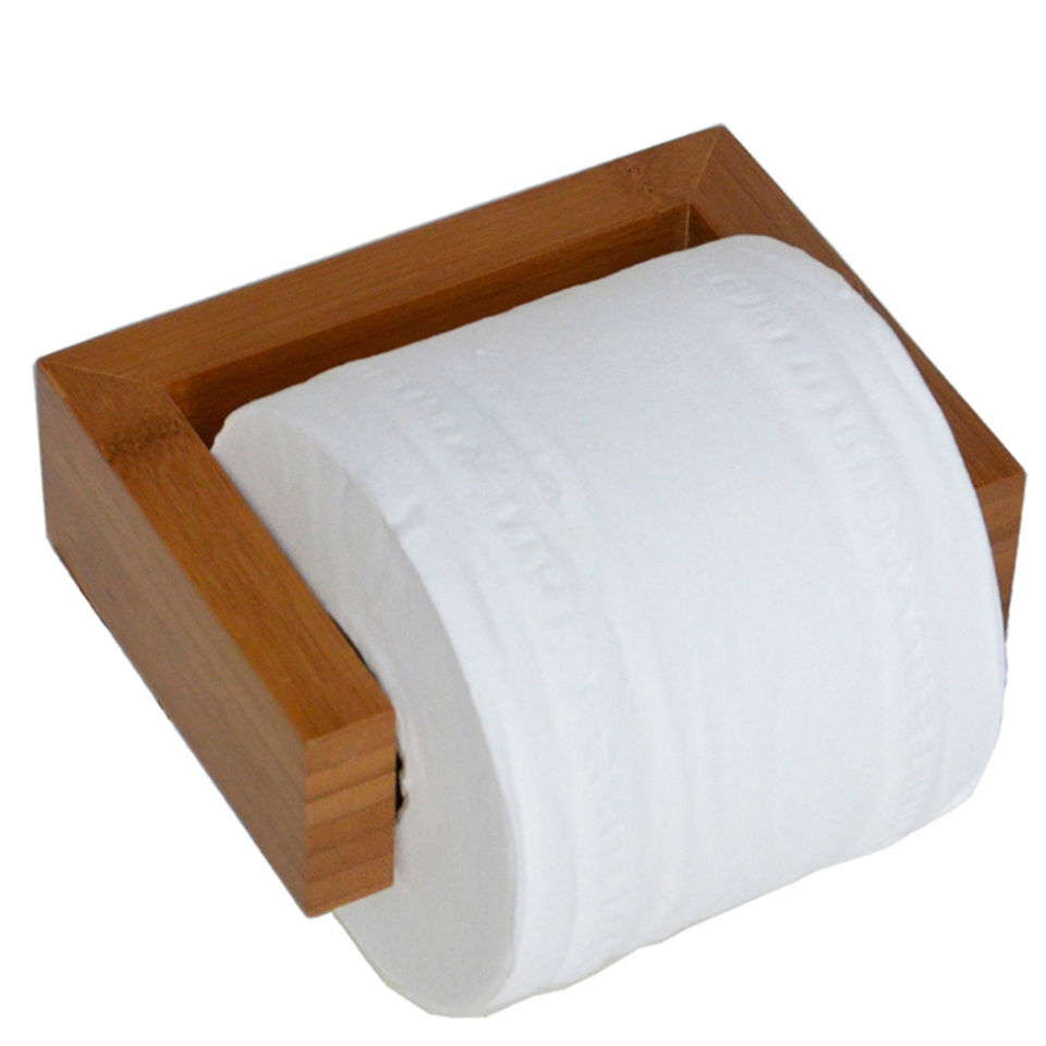 Wireworks Bamboo Toilet Roll Holder Homeware TheHutcom