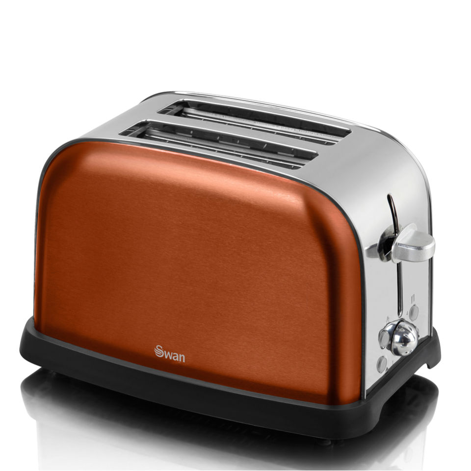 swan st16020copn metallic 2 slice toaster copper homeware. Black Bedroom Furniture Sets. Home Design Ideas