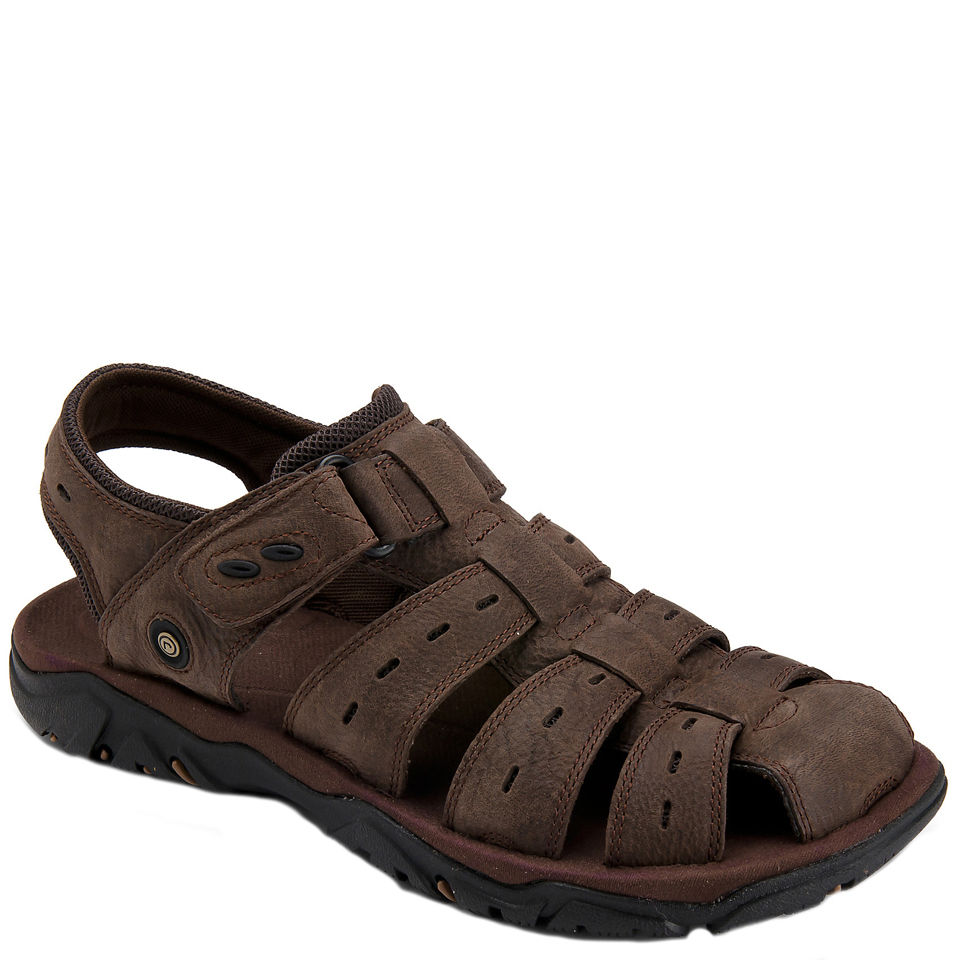 Rockport Mens CC Fisherman Sandals Dark Brown Clothing
