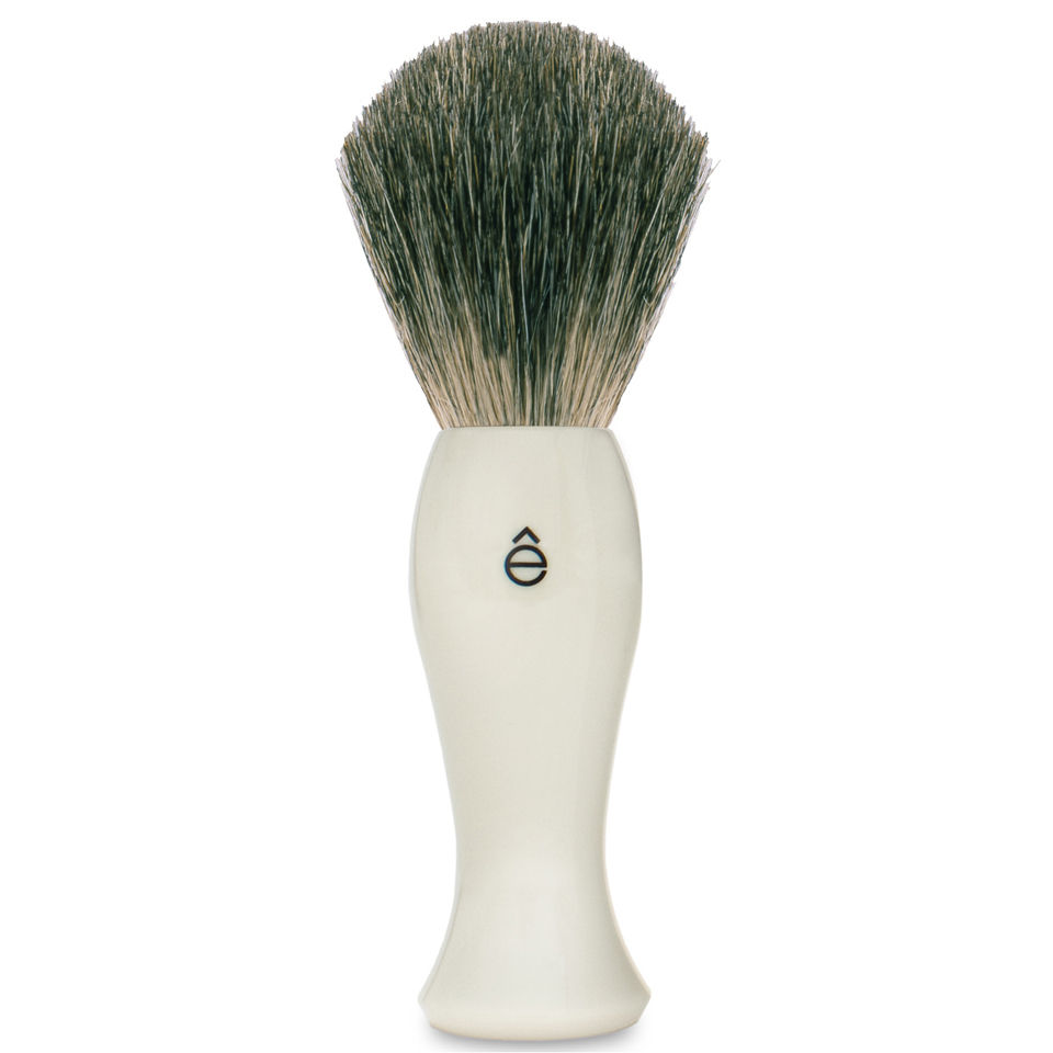 e-shave-long-shave-brush-plastic-handle-white