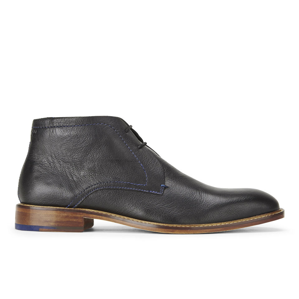 Ted Baker Mens Tordsi 2 Leather Chukka Boots Black Clothing