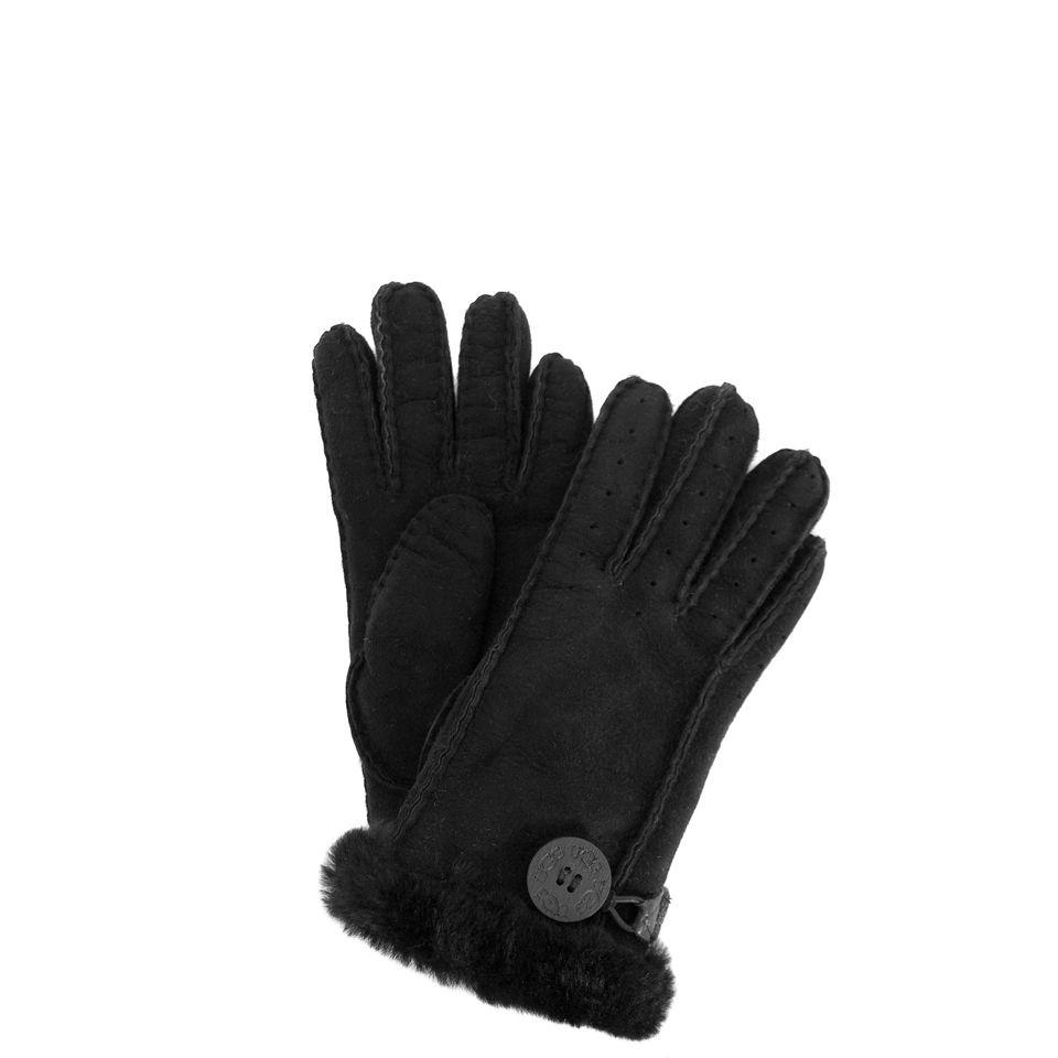 Womens black leather gloves australia - Ugg Black Leather Gloves Ugg Australia Gloves Black Women